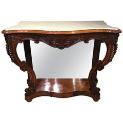 Rosewood Victorian Period Antique Console Table