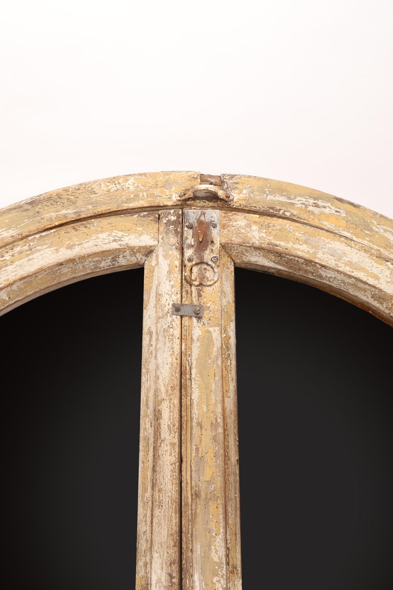 French Round Wooden Frame Mirrors, France, 1700 For Sale