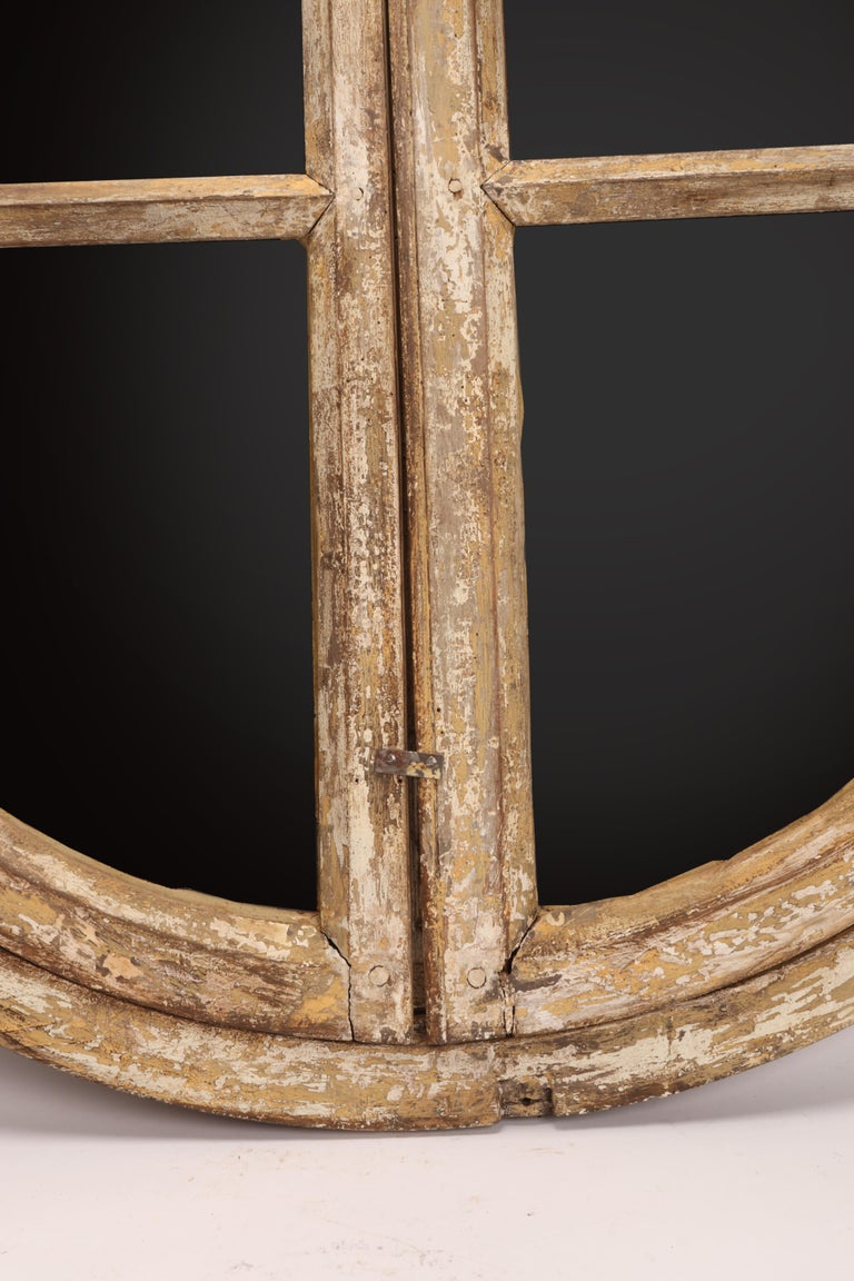 18th Century and Earlier Round Wooden Frame Mirrors, France, 1700 For Sale