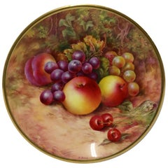 Royal Worcester Fruit Hand Painted Cabinet by R Budd