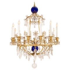 Russian 19th Century Neo-Classical style Crystal and Glass Chandelier