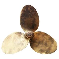 Salvaged Bronze Boat Propeller