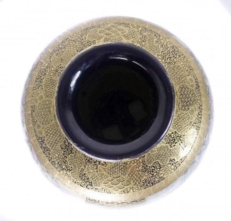 19th Century A Satsuma Vase, Meiji Period Signed Shuzan For Sale