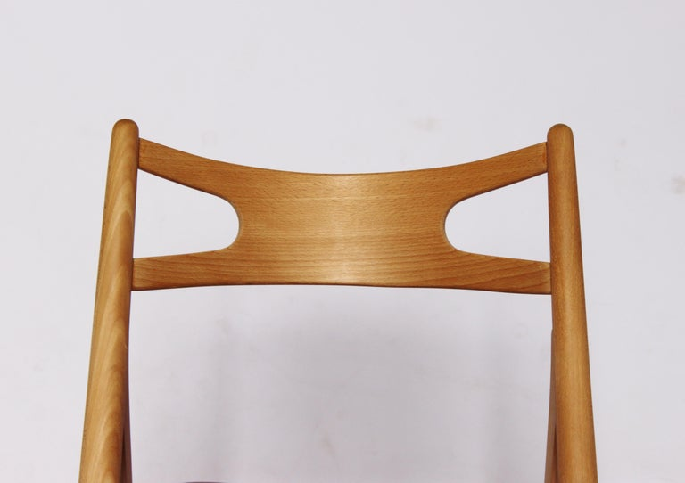 Sawbuck Chair, Model CH29, in Beech by Hans J. Wegner, 1970s In Good Condition For Sale In Lejre, DK