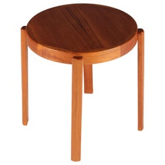 Scandinavian Modern Danish Teak Side Table by Mobelfabrikken Toften