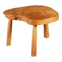 Scandinavian Pine Tripod Table