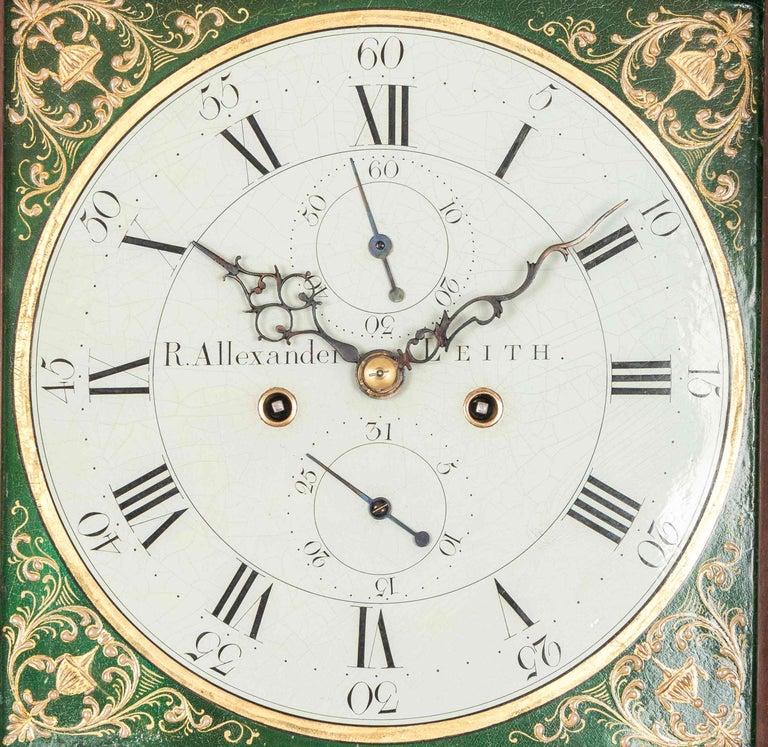 Scottish Antique George III Mahogany Longcase Clock by Robert Alexander, Leith