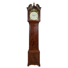 Scottish Antique George III Mahogany Longcase Clock by Robert Alexander, Leith