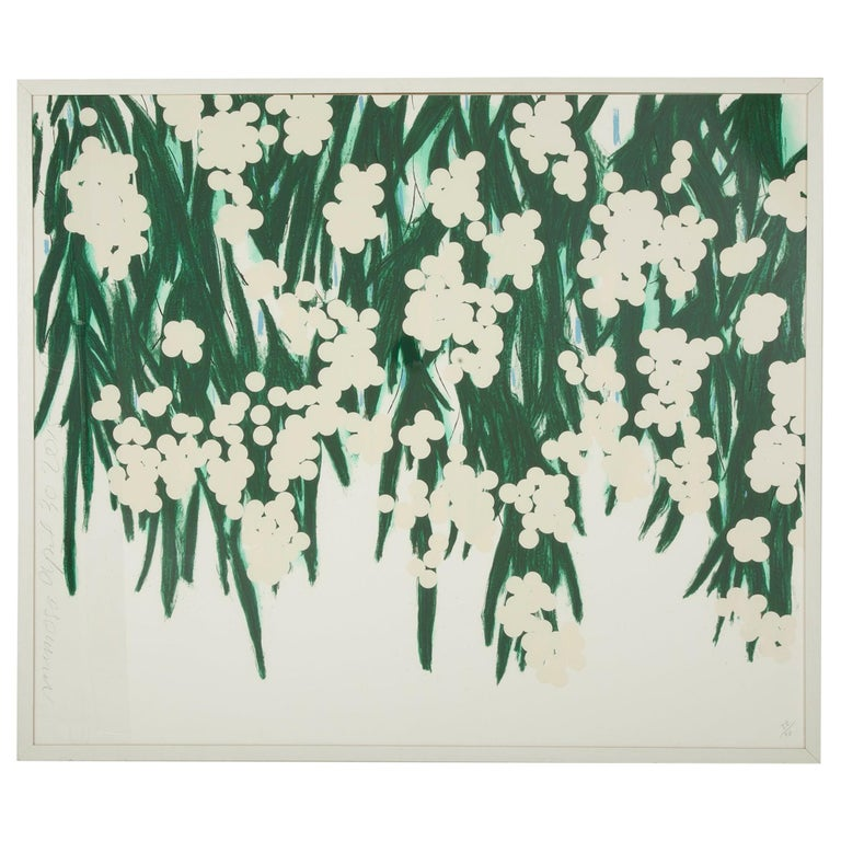 Screen Print with Flocking by Donald Sultan Titled Mimosa, 2015 For Sale