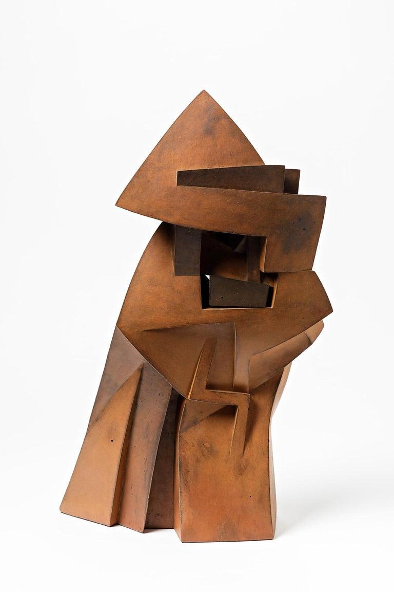 A ceramic sculpture entitled