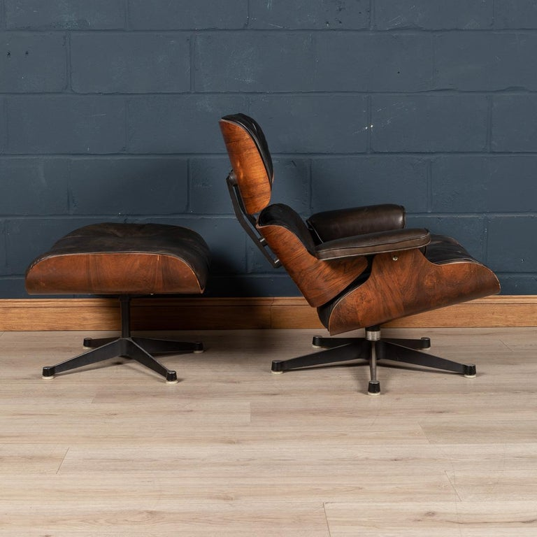20th Century Second Series Eames Lounge Chair & Ottoman, Herman Miller, Circa 1970 For Sale