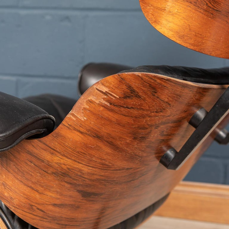 Second Series Eames Lounge Chair & Ottoman, Herman Miller, Circa 1970 For Sale 2