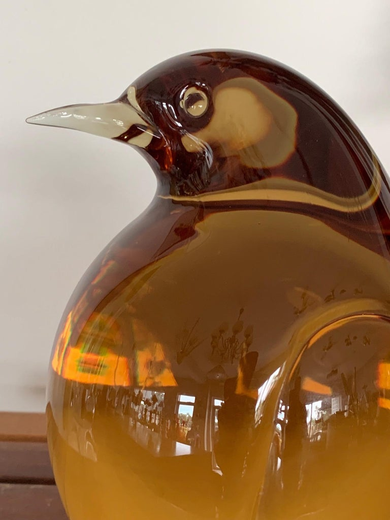 Seguso Glass Pigeon In Good Condition For Sale In St.Petersburg, FL