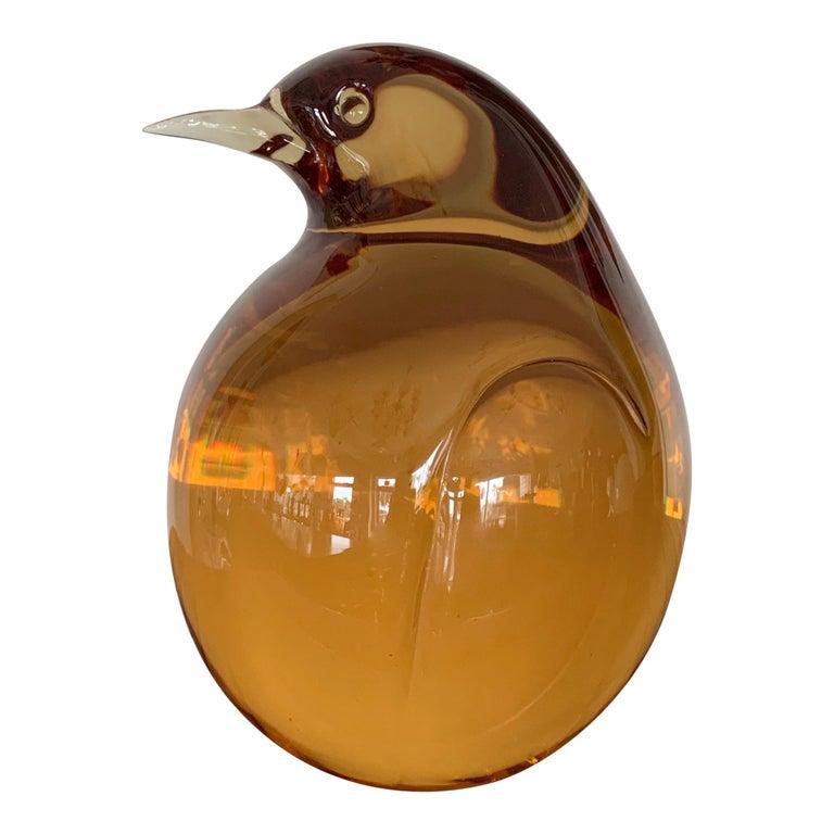 Seguso Glass Pigeon For Sale