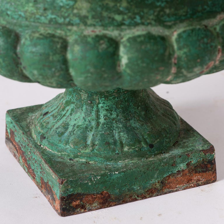 Set Four French Cast Iron Garden Urns, circa 1900 For Sale 2