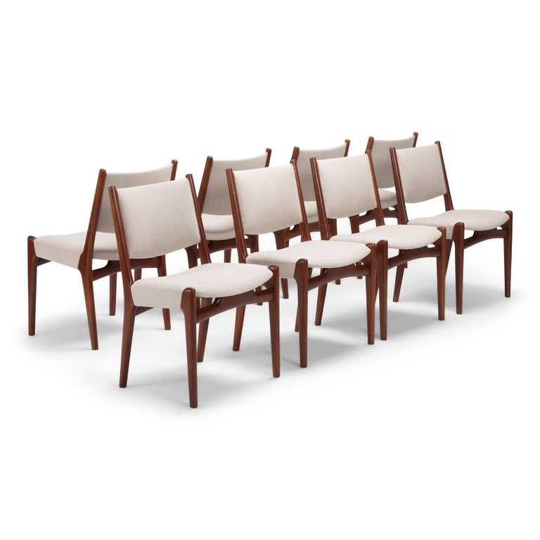 Danish Set of 10 Chairs by Hans Wegner, Made by Cabinetmaker Johannes Hansen For Sale