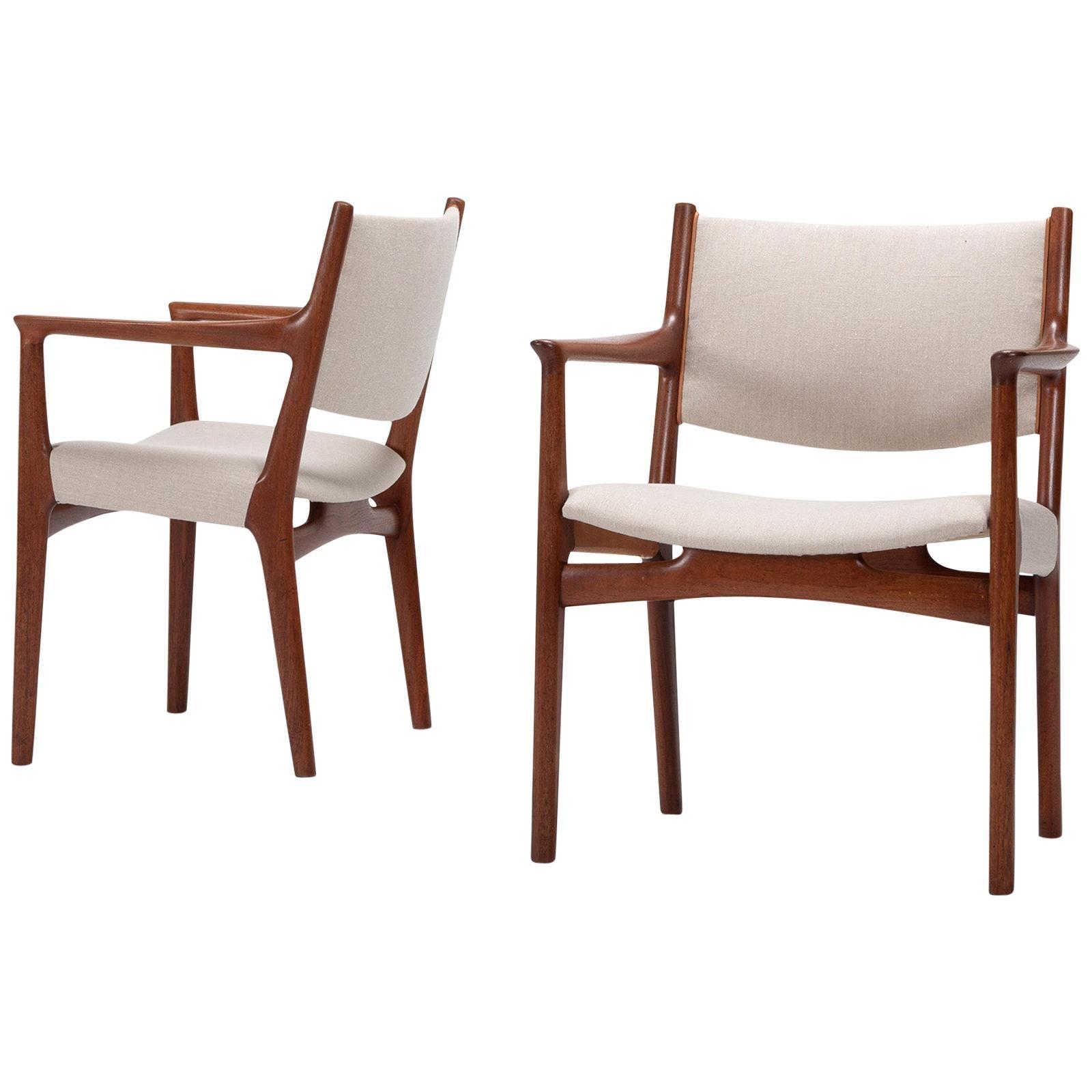 Set of 10 Chairs by Hans Wegner, Made by Cabinetmaker Johannes Hansen