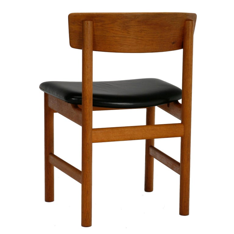 20th Century Set of 10 Danish Dining Chairs in by Børge Mogensen for Fredericia Stolefabrik For Sale