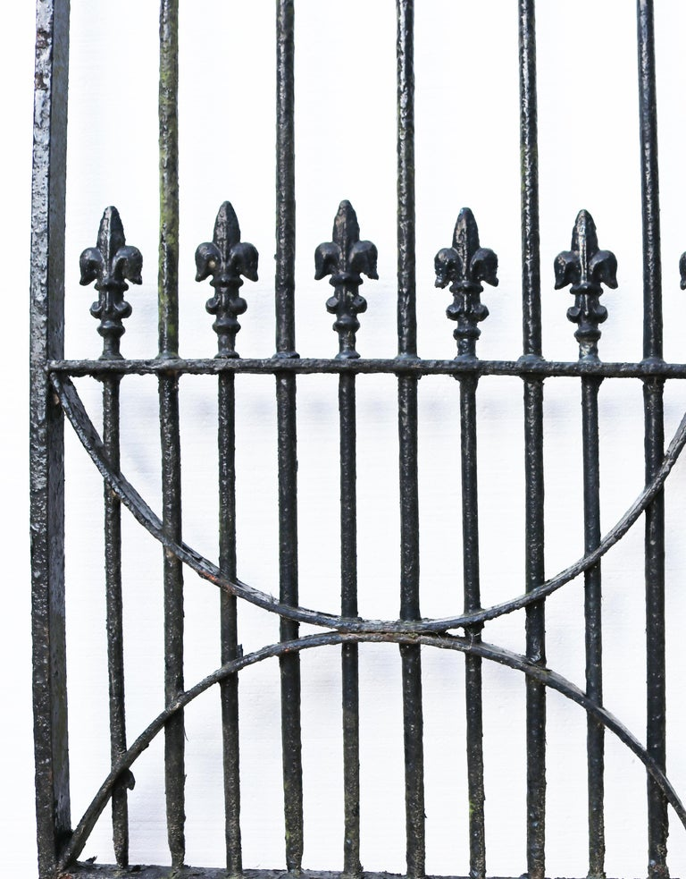 English Set of Antique Wrought Iron Driveway Gates 'Two Sets Available' For Sale