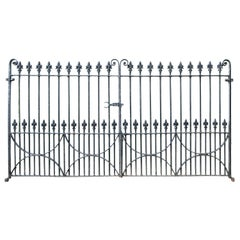 Set of Antique Wrought Iron Driveway Gates 'Two Sets Available'