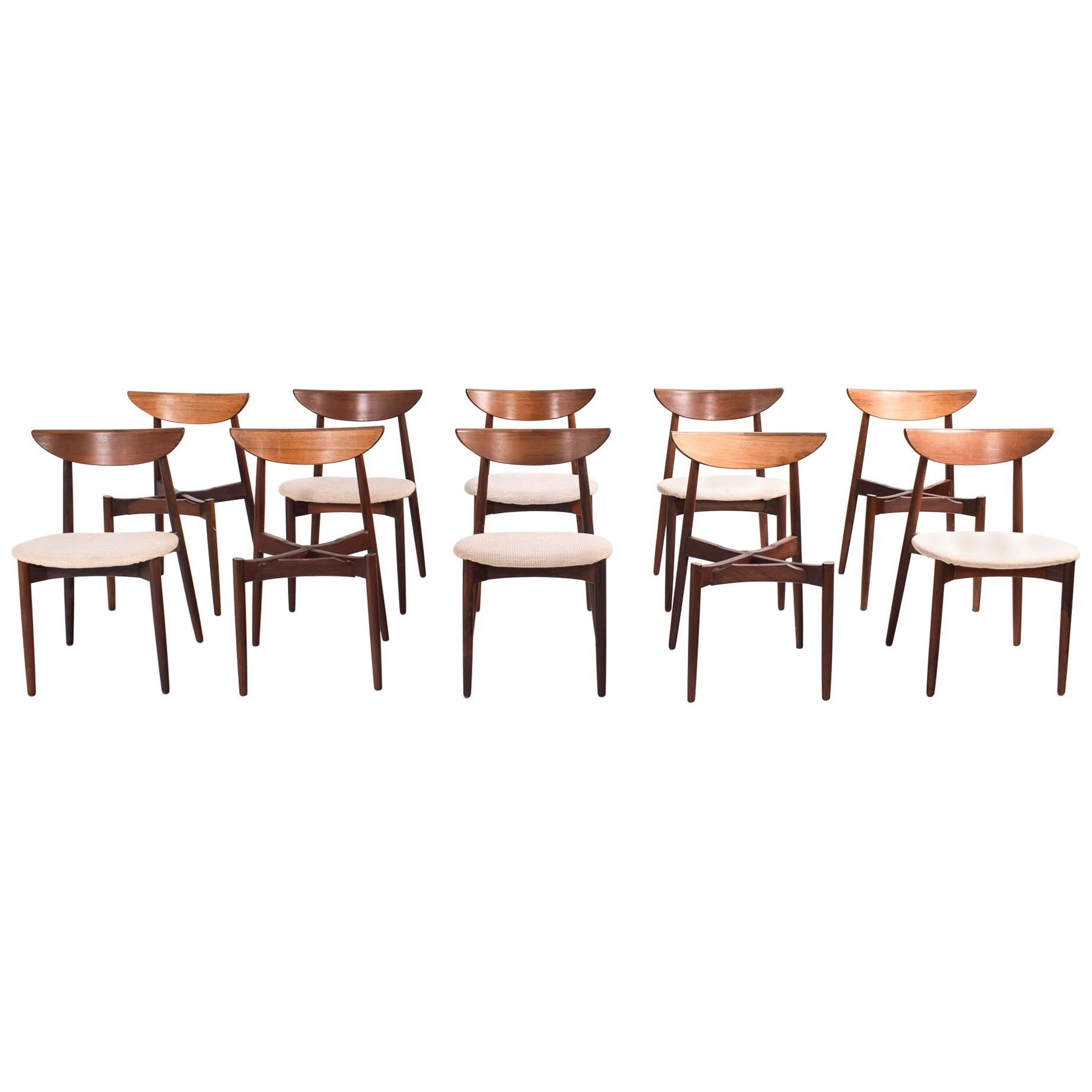 Set of 10 Rosewood Dining Chairs by Harry Ostergaard for Randers