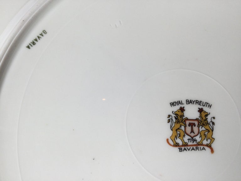 Set of 12 Elaborate Service Dinner Plates For Sale 5