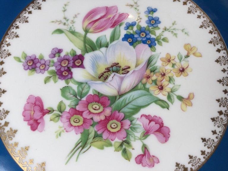 Porcelain Set of 12 Elaborate Service Dinner Plates For Sale