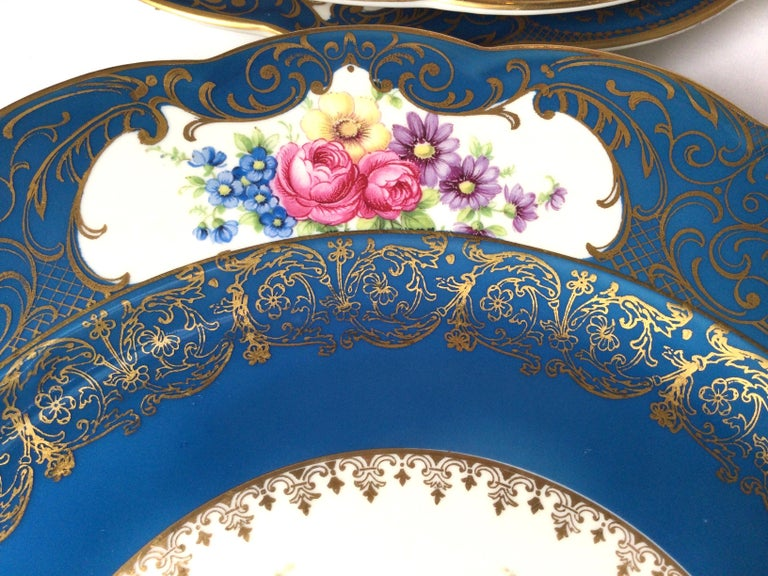 Set of 12 Elaborate Service Dinner Plates For Sale 2