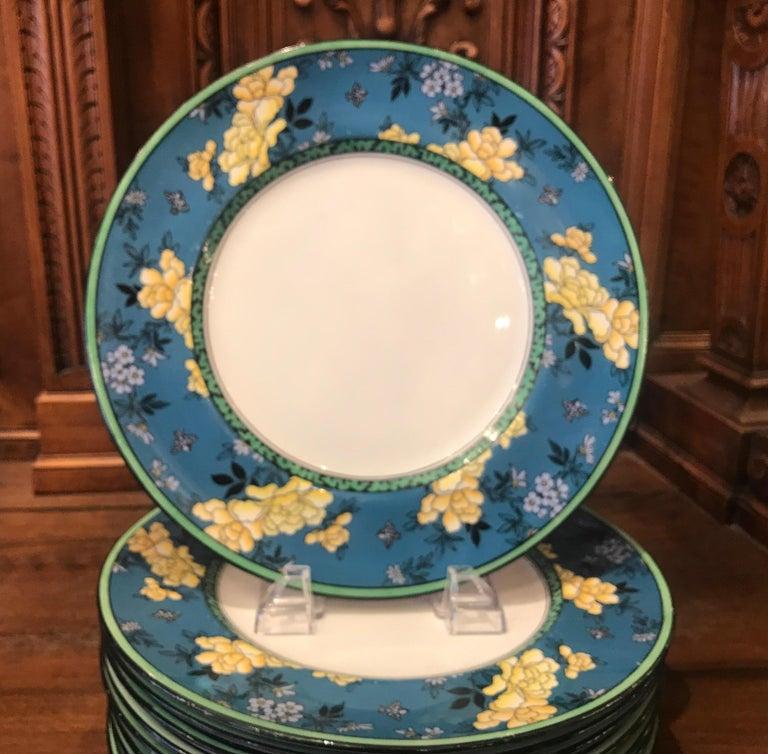 Art Deco Set of 12 English Deco Plates For Sale