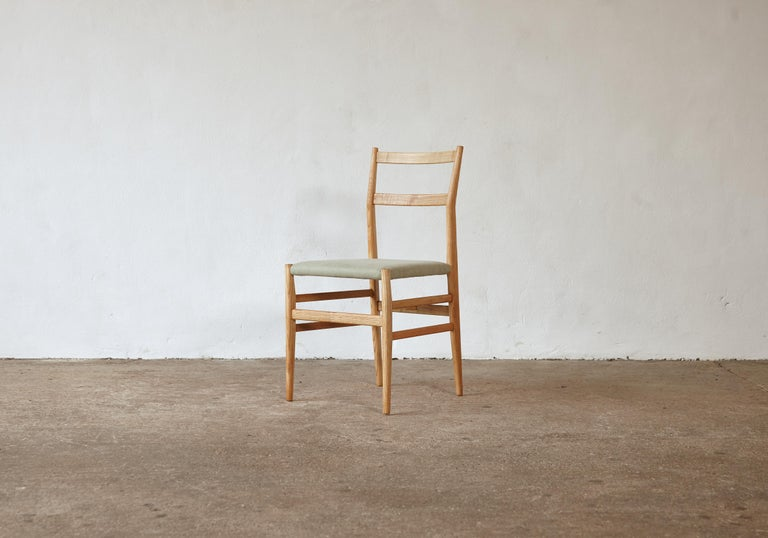 Set of 12 Gio Ponti Leggera Model 646 Dining Chairs for Cassina, Italy, 1950s In Good Condition For Sale In London, GB