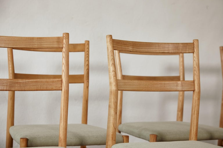 Set of 12 Gio Ponti Leggera Model 646 Dining Chairs for Cassina, Italy, 1950s For Sale 2