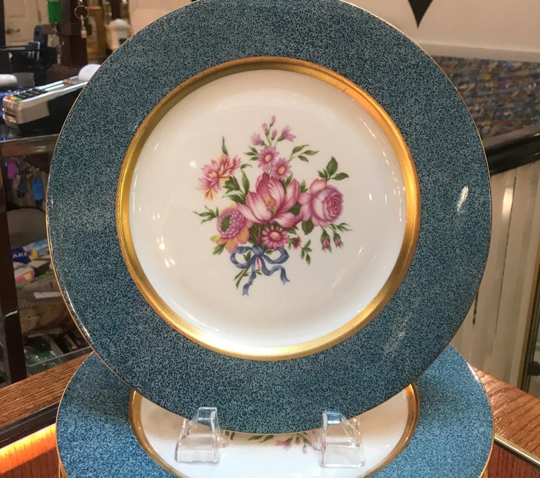 American Set of 12 Theodore Haviland Service Dinner Plates For Sale