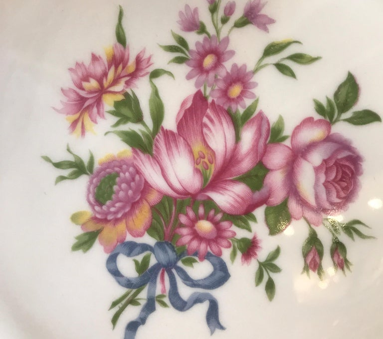 Set of 12 Theodore Haviland Service Dinner Plates For Sale 3