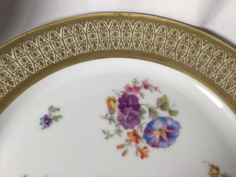 Set of 12 Tirschenreuth Porcelain Service Plates For Sale 5
