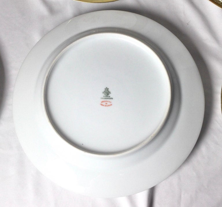 Set of 12 Tirschenreuth Porcelain Service Plates For Sale 6
