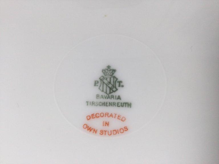 Set of 12 Tirschenreuth Porcelain Service Plates For Sale 7