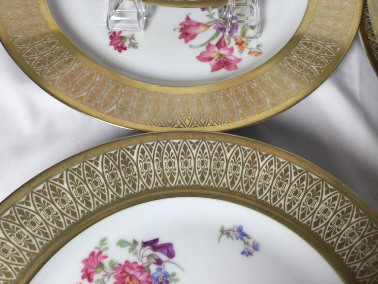 Set of 12 Tirschenreuth Porcelain Service Plates For Sale 3