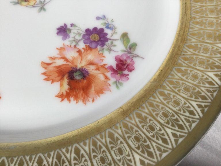 Set of 12 Tirschenreuth Porcelain Service Plates For Sale 4