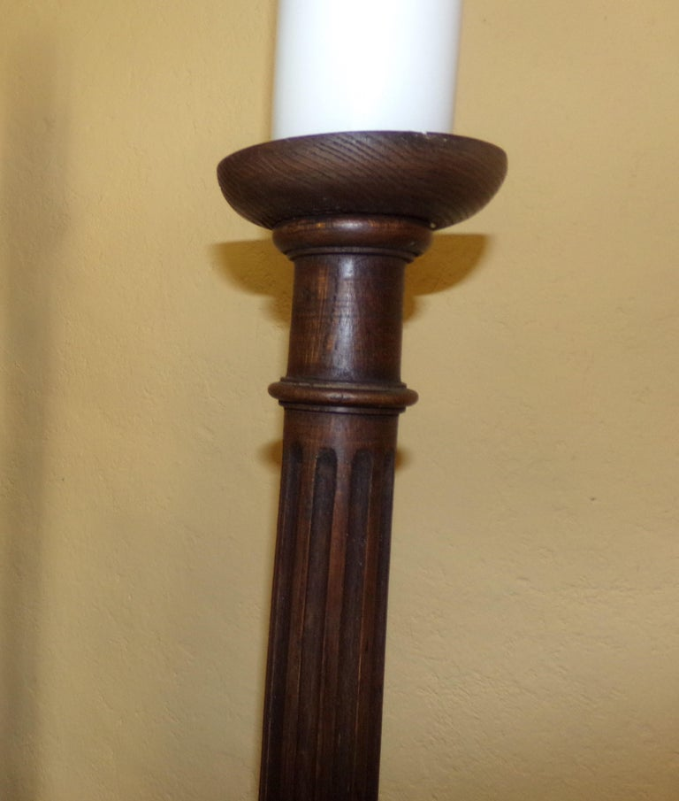 Set of 4 Candlesticks/ Torchers in the Louis XVI Style, circa 1890 In Good Condition For Sale In London, GB