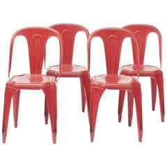 Set of 4 French Tolix Chairs