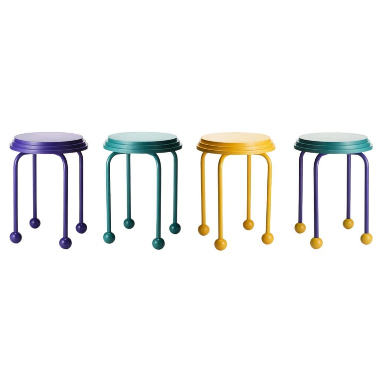 Set of 4 Ovni, Benches by Cultivado Em Casa For Sale