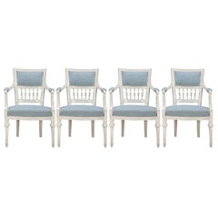 A Set of 4 Swedish Gustavian Armchairs