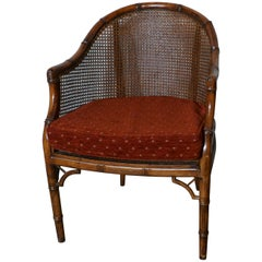 Set of 6 Art Deco Golden Simulated Bamboo Dining Chairs