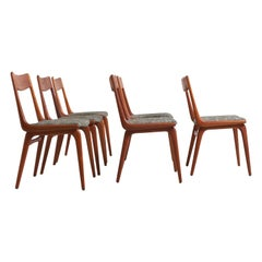 Set of 6 Boomerang Dining Chairs, Alfred Christensen