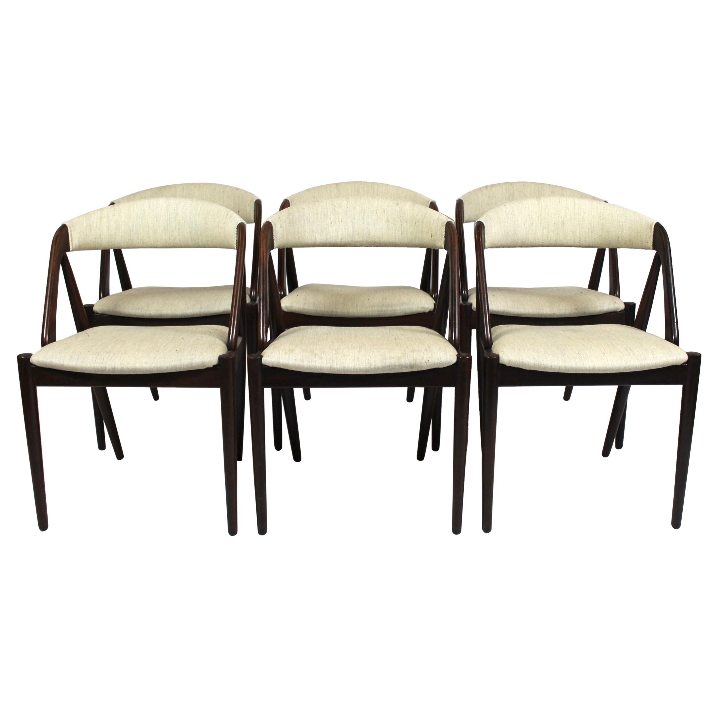 Set of 6 Dining Chairs, Model 31, by Kai Kristiansen and Schou Andersen, 1960s