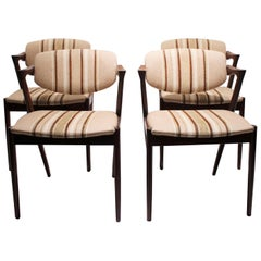 Set of 6 Dining Chairs, Model 42, by Kai Kristiansen and Schou Andersen, 1960s
