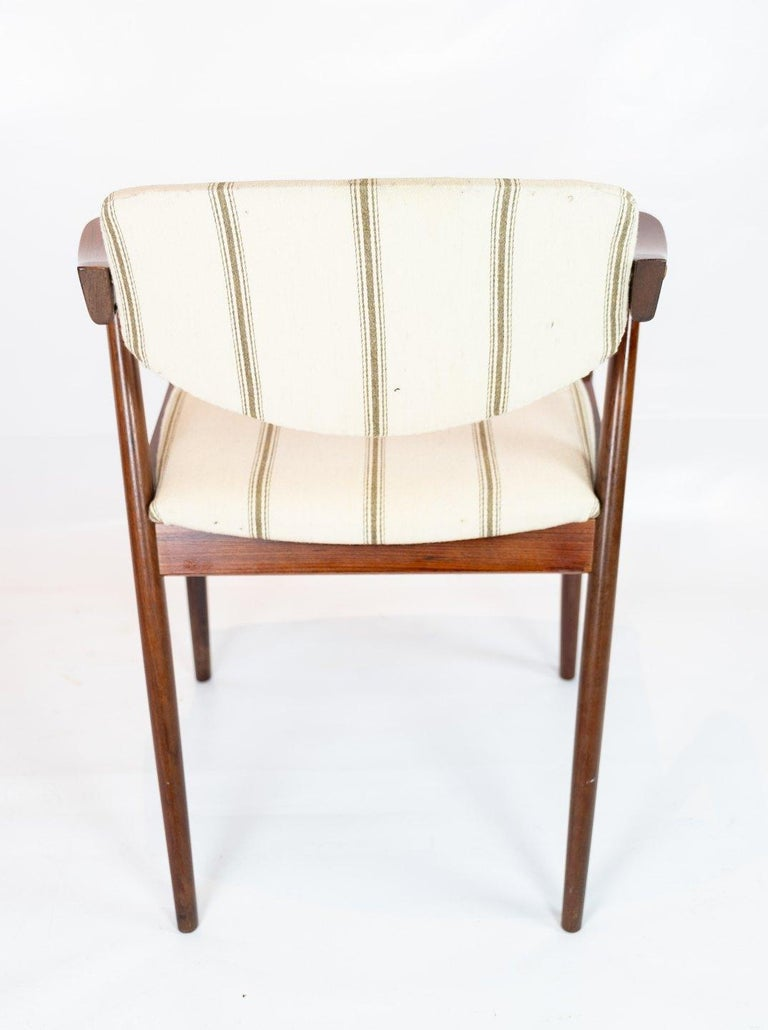 Danish Set of 6 Dining Chairs, Model 42, Designed by Kai Kristiansen, 1960s For Sale