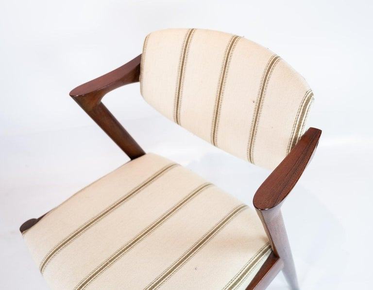 Set of 6 Dining Chairs, Model 42, Designed by Kai Kristiansen, 1960s In Good Condition For Sale In Lejre, DK