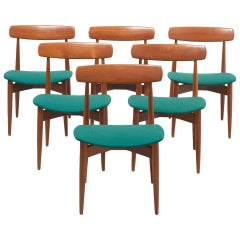 Set of 6 Dinning Chairs by H. W. Klein for Bramin