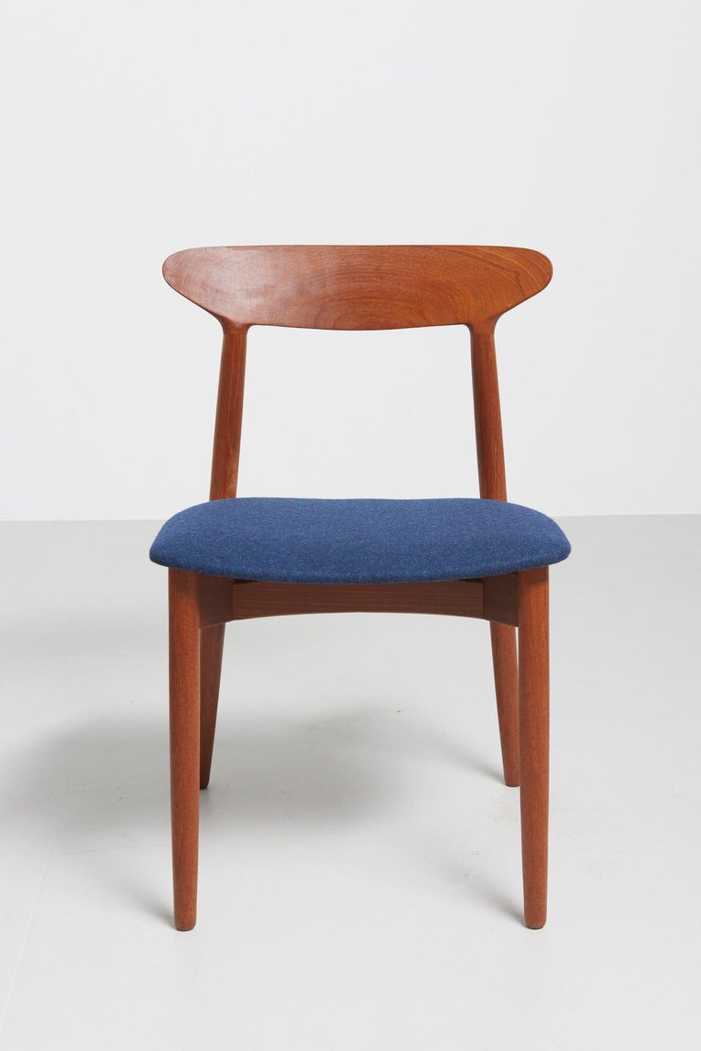 Teak Set of 6 Dinning Chairs by Harry Østergaard For Sale